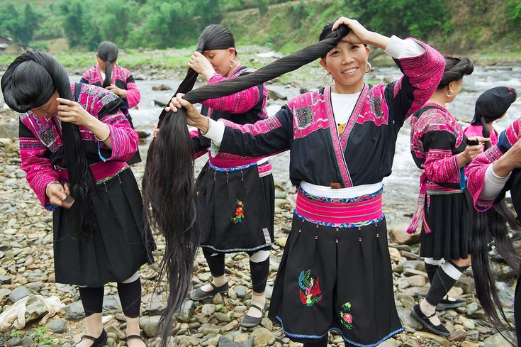 Yao Women Wash Hair with Rice Water