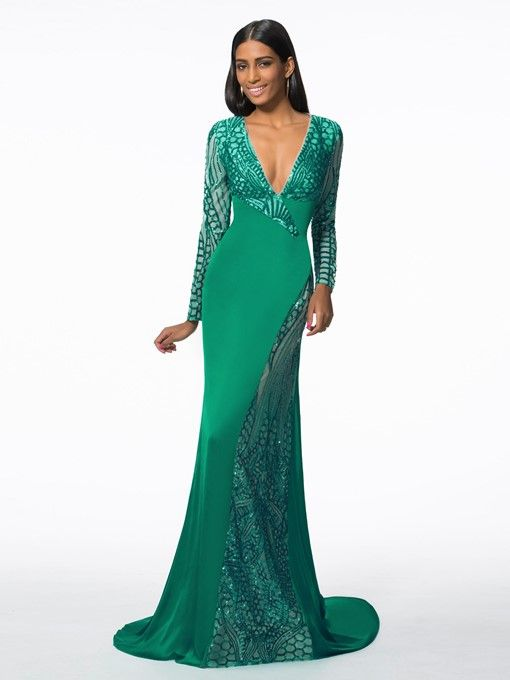 c6e1b838f52eb Bowknot Hollow Sashes Sequins Evening Dress in 2019 | Designer ...