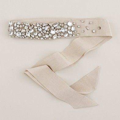 rhinestone encrusted sash from j.crew *bling*