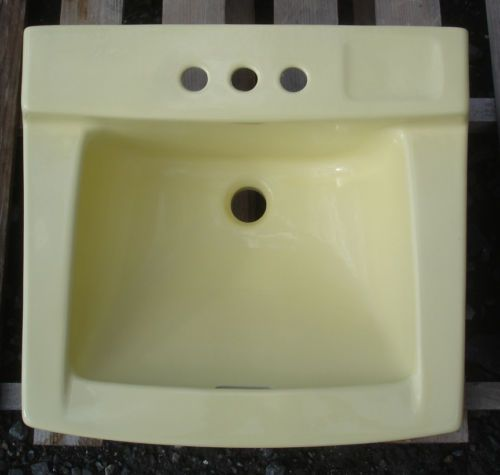 Bathroom Sink Yellow 22 best vintage plumbing fixtures images on pinterest | plumbing