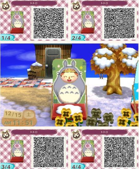 Totoro cut out new leaf pinterest totoro for Animal crossing new leaf arredamento