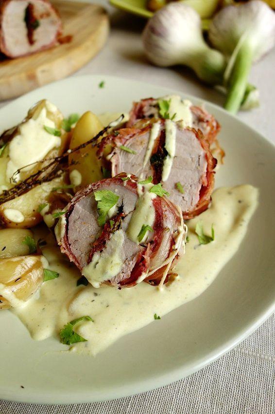 Filet mignon roulé au jambon, farci aux tomates séchées et herbes | Roquette Rollmops