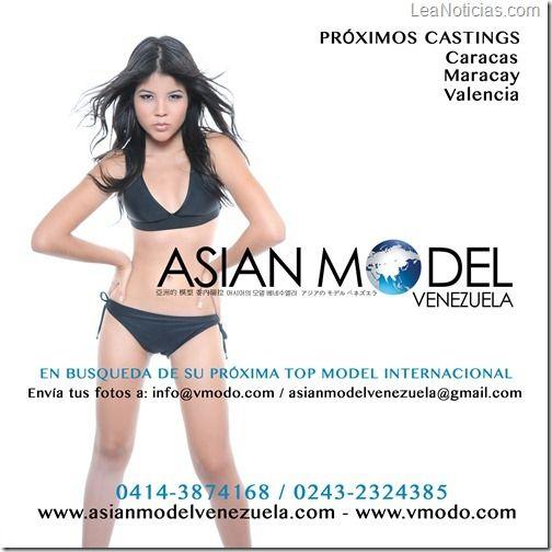 Asian Model Venezuela está en busca de la próxima Top Model International - http://www.leanoticias.com/2013/01/22/asian-model-venezuela-esta-en-busca-de-la-proxima-top-model-international/