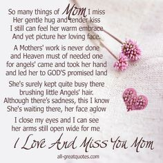 In Memory Birthday Poems | This entry was posted in Memorial Cards - All , Memorial Cards - Mom ...