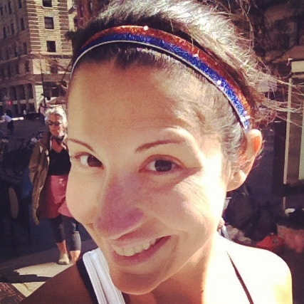 Rocking NYC marathon colors @sparklysoulinc headband at today's NYRR 18 mile tuneup for the NYC Marathon!