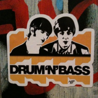 A fantastic sticker someone had put up in a bar in Sheffield called Bungalows and Bears. You've got to love The Beatles.