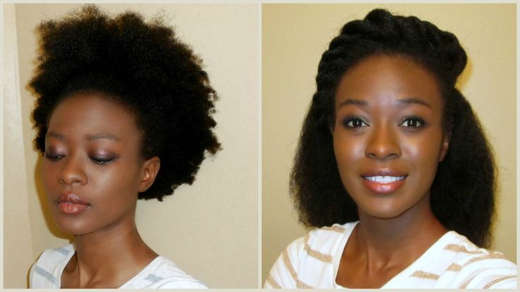 No Heat Kinky To Straight 4C Natural Hair (African Hair Threading)