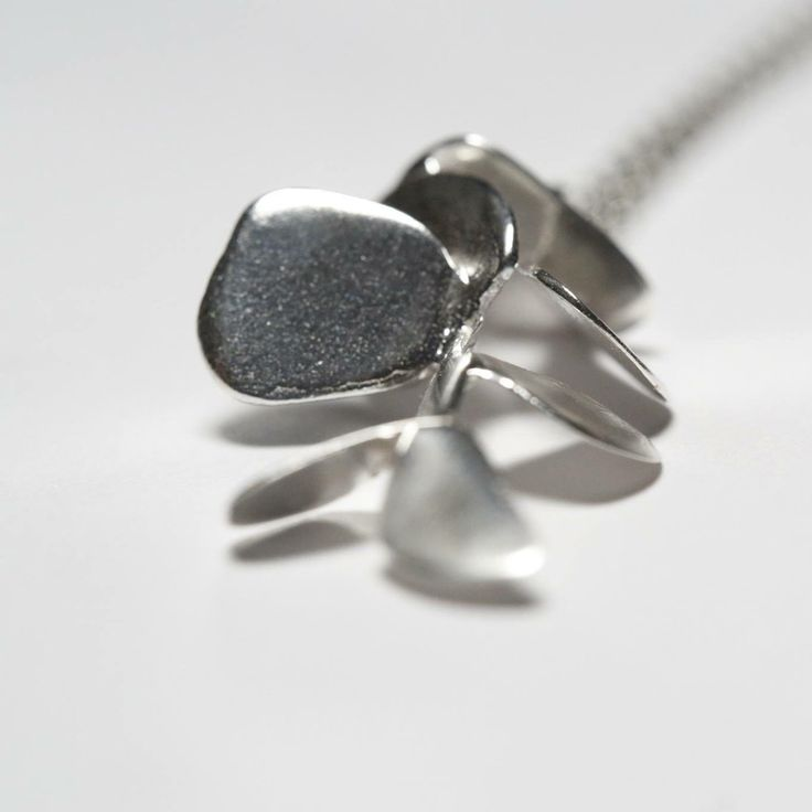 Details from tree necklace in sterling silver. Handmade with lost wax technique