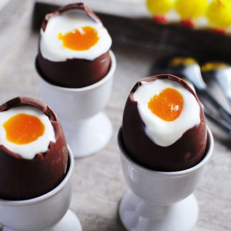 Trompe l'œil pour des œufs en coque