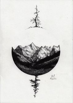 1000+ ideas about Mountain Tattoos on Pinterest | Negative Space ... #TattooIdeasArm