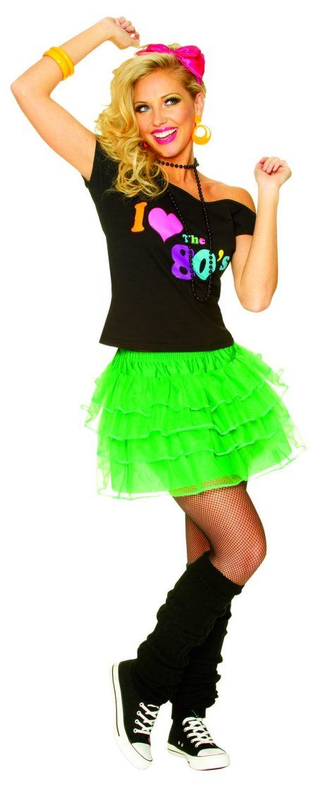 80's Petticoat Neon Green