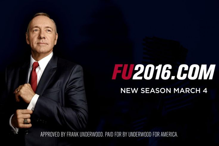 """••House of Cards S4 13E starts! 2016-03-04 ; )•• (S1 13E 2013-02-01) • FU! ; ) poster (1368×912) • produced by Netflix! • America's most charismatic actor Kevin Spacey (as Francis Underwood) is ingenious (as usual ; ) as is his wife Claire (Robin Wright ; ) • 6 dir., main James Foley • 10 writers, main Kate Barnow • poignantly shows how Washington works! All games & lies...as People do not matter, only getting ahead • """"There are 2 kinds of pain. The sort of p"""