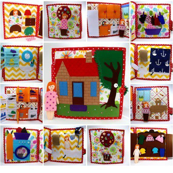 Libro tranquila casa de muñecas libro de actividades con