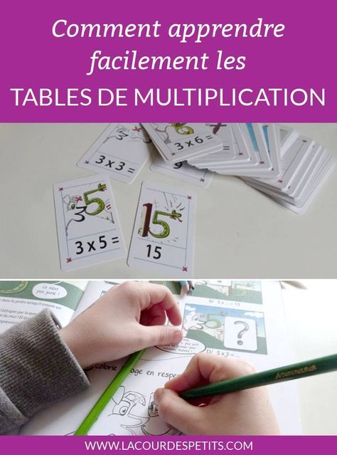 321 best les tables images on pinterest multiplication for Apprendre les tables de multiplications