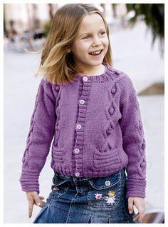patrón chaqueta niña de lanas katia