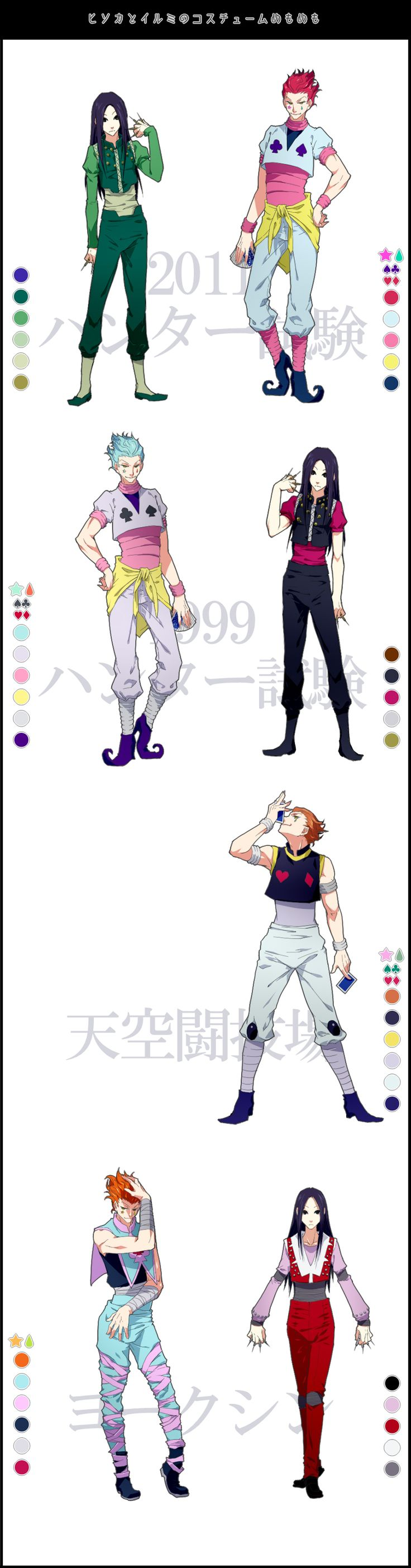 Hunter x Hunter Differences between new/old character design