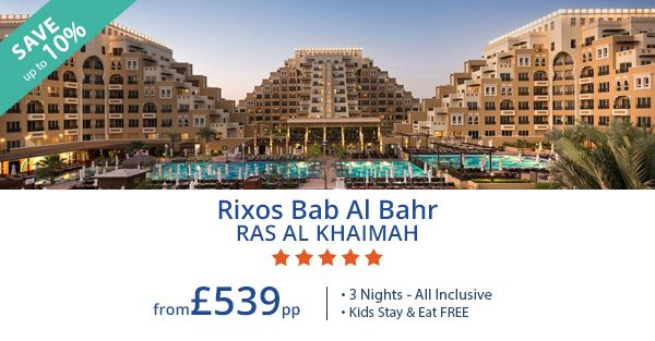 Save big on your next holiday to Ras Al Khaimah with our Black Friday offers. Make the most of our all inclusive 3 night package deal and enjoy savings up to 10% plus FREE stay and meals for kids.