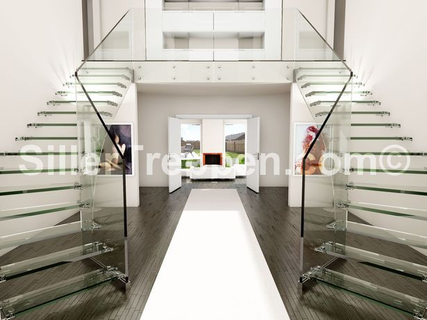 Best Glass Stairs And All Glass Staircases Staircase Design 400 x 300
