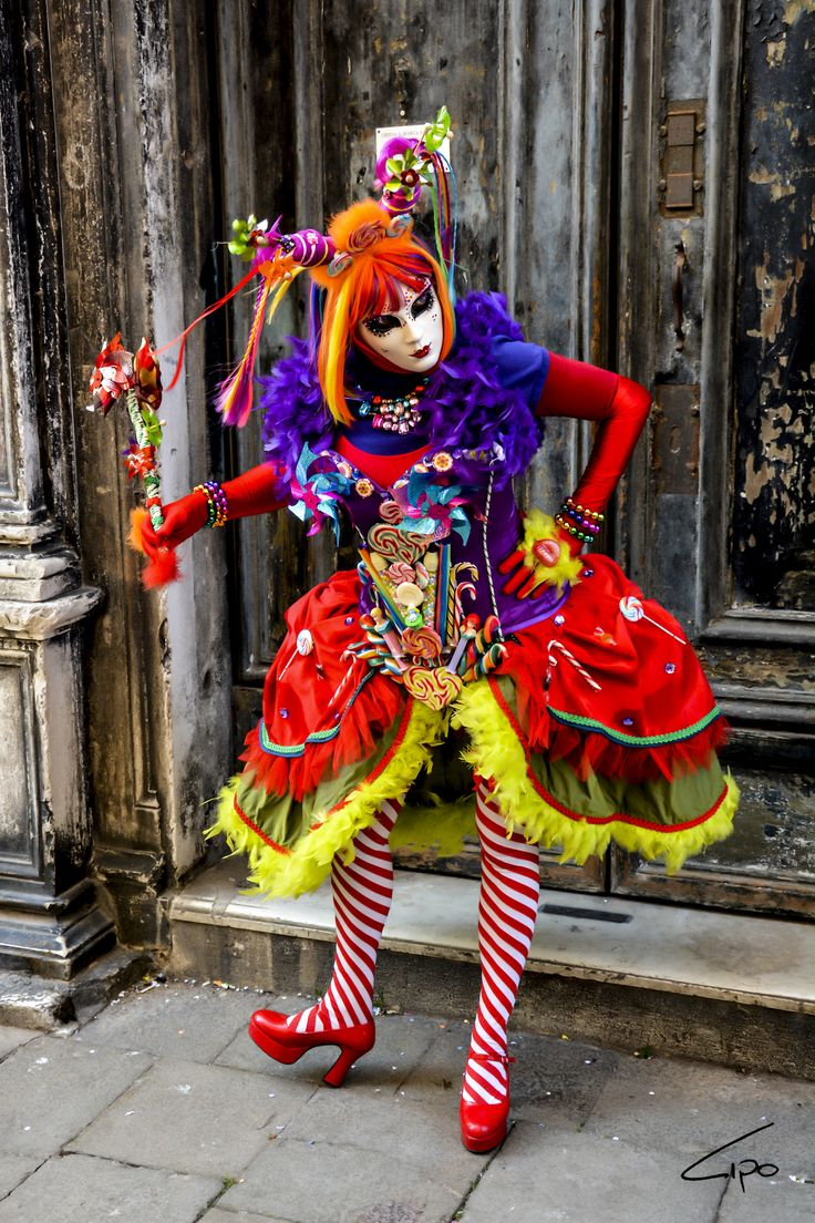 Candy colored costume at Venice Carnival | Flickr - Photo Sharing!