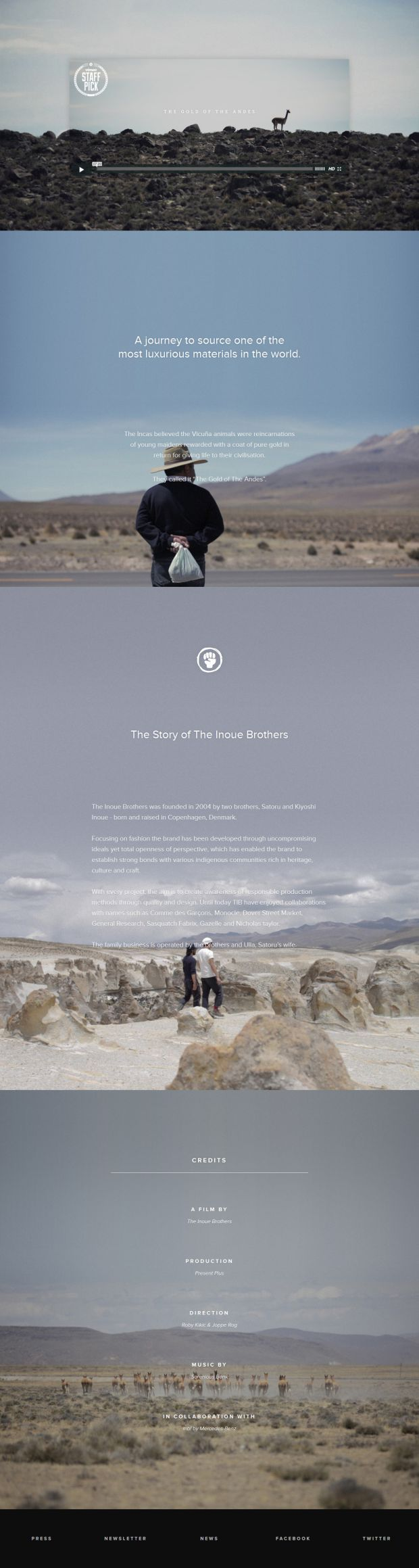 The Gold of The Andes - #Webdesign #inspiration www.niceoneilike.com