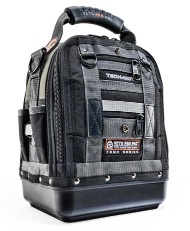 Veto Pro Pac TECH-MCT Heavy Duty Tool Bag Veto Pro Pac's Tech MCT is a compact, yet fully featured service, repair or installation tool bag that features everything you have come to expect from Veto P
