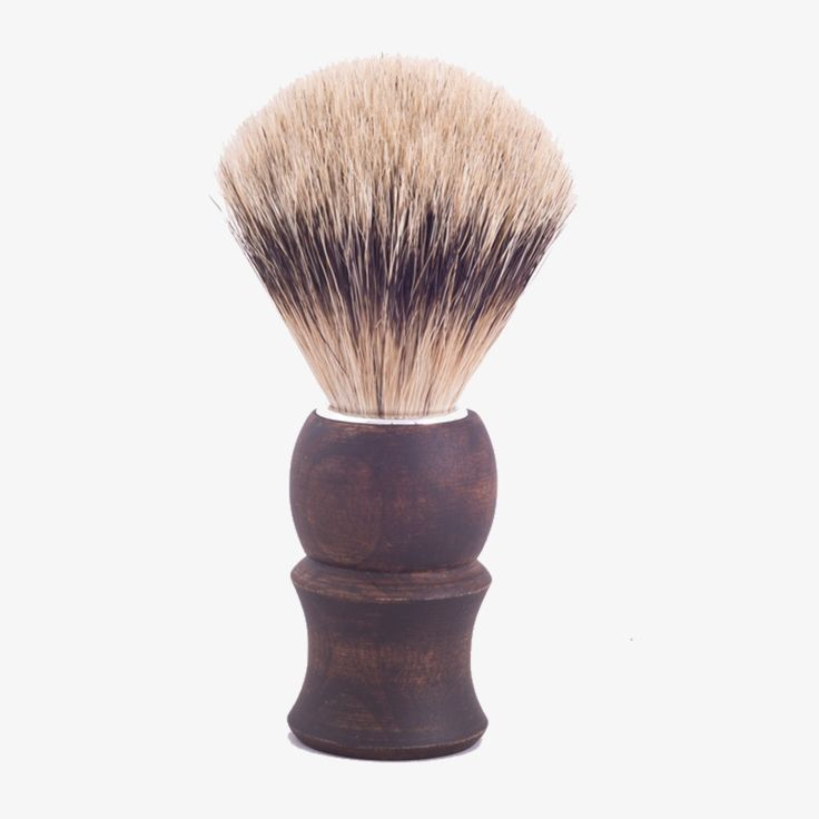 Silvertip Badger Shaving Brush with Vintage Brown, Classic Maple Handle