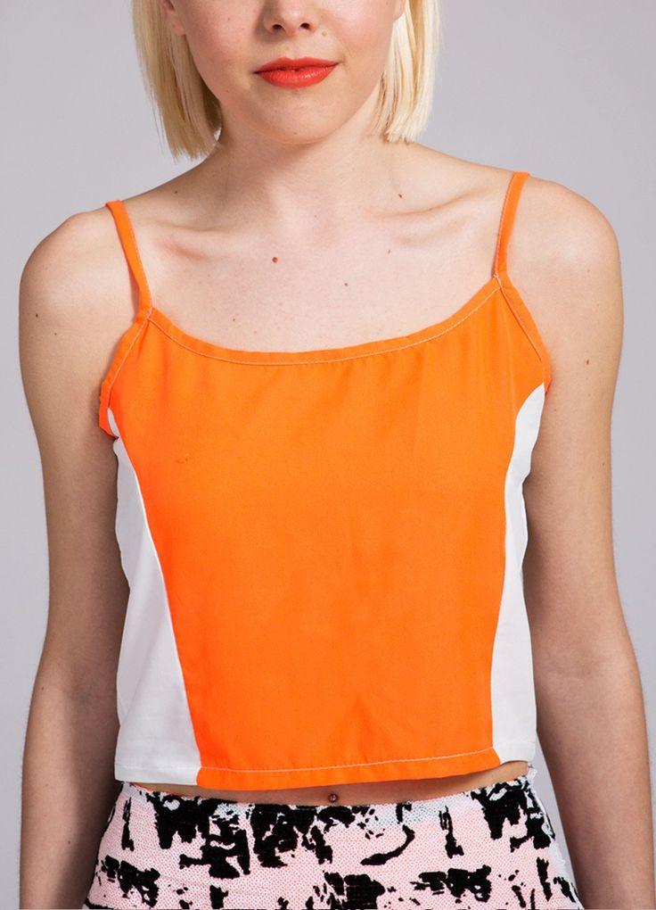 Neon Orange Cami Top  #Britishstreetwear #Luxuryfashion #nofixedabode #Londonstyle #streetwear