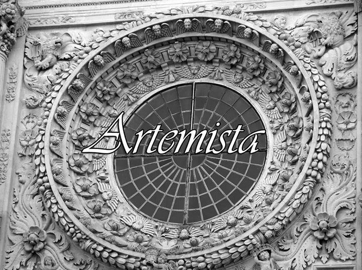 """Logo  """"Artemista"""", associazione culturale a sostegno del volontariato e dell'artigianato artistico culturale salentino. Lecce Italia"""