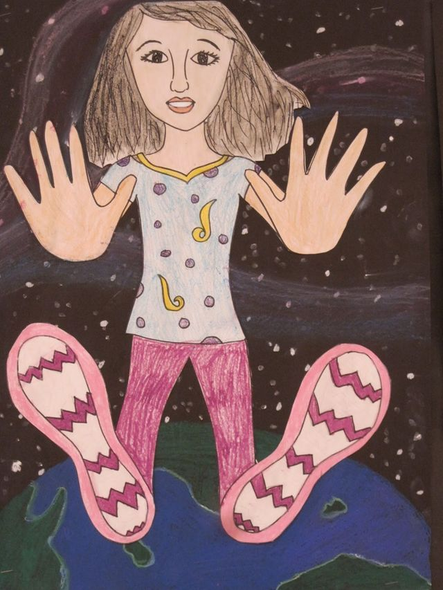 Falling Through Space, 5th Grade (Lines, Dots, and Doodles