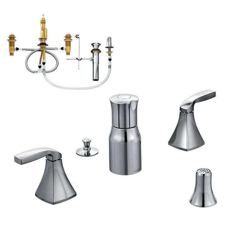 MOEN Voss 2-Handle Bidet Faucet Trim Kit with Valve in Chrome (Grey)