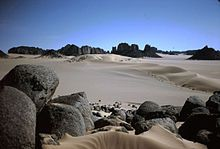 Tissili plateau, S. Algeria.  Once much wetter, a home to Neolithic people 200,000 yo.