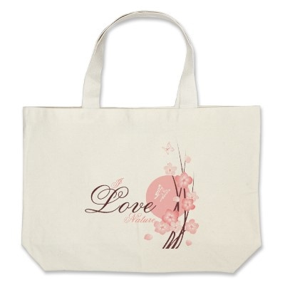 Pink Blossom Flowers & Butterflies 2 Tote Bags