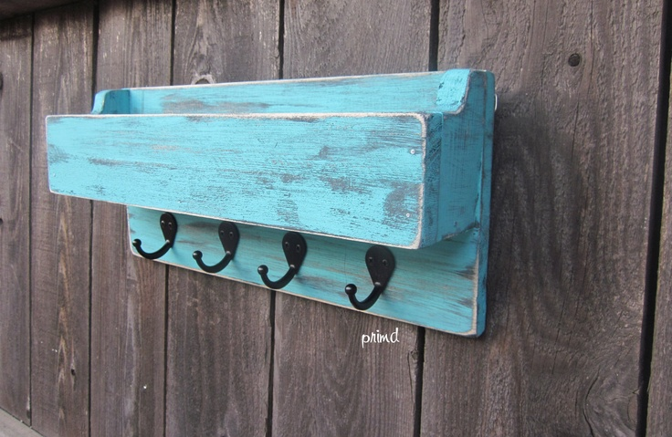 Mail Holder Key Holder Organizer Distressed And Rustic