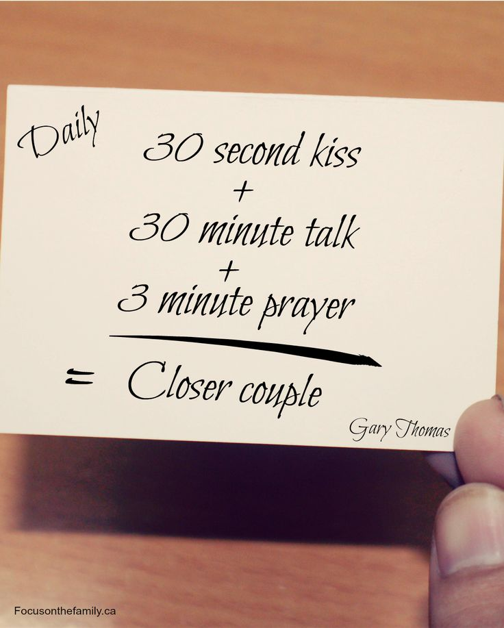 Fantastic tip to live by to keep a marriage strong! This takes less than 34 minutes total and makes all the difference. Check out Gary Thomas' new book for more tips.