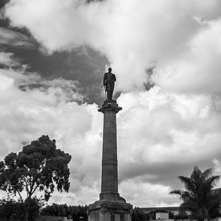 The Wayfarer of Clouds - Juarez monument in the city of Puebla