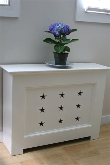 Like something similar for the boys room Coastal Inspired Radiator Covers Make the Functional Fabulous
