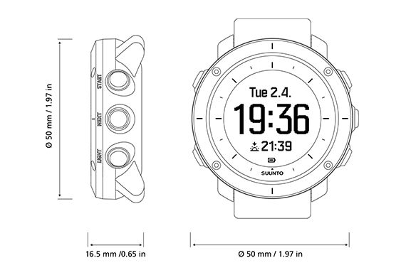 Suunto Customizer: Suunto Traverse is a GPS outdoor watch with versatile navigation functions for hiking and trekking. It has also sunset/sunrise times and storm alarm.