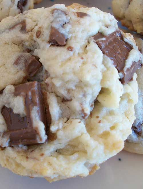 Recipe for Cream Cheese Hershey Bar Cookies - So soft, so chocolatey, SO DELICIOUS! When I crave cookies...it is THESE cookies!