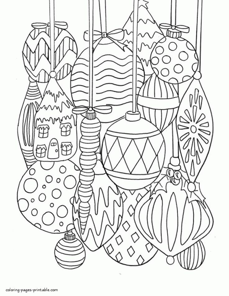 38++ Christmas ornament coloring pages pdf info