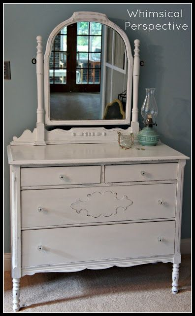 Whimsical Perspective: Meet Pure White: My Annie Sloan Chalk Paint Color Review