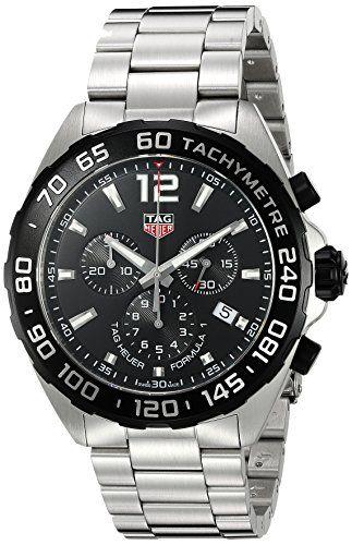 #Chronographwatch #dresswatch #titaniumwatches Tag Heuer Men's 'Formula 1' Swiss Quartz Stainless Steel Dress Watch, Color:Silver-Toned (Model: CAZ1010.BA0842) Check https://www.carrywatches.com