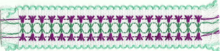 Huck Weaving -- Flower