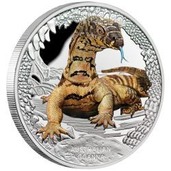 A monitor lizard, the Goanna is a common sight in Australia. Our biggest species, the Perentie grows to an impressive two metres in length! | Australia's Remarkable Reptiles - Goanna 2016 1oz Silver Proof Coin