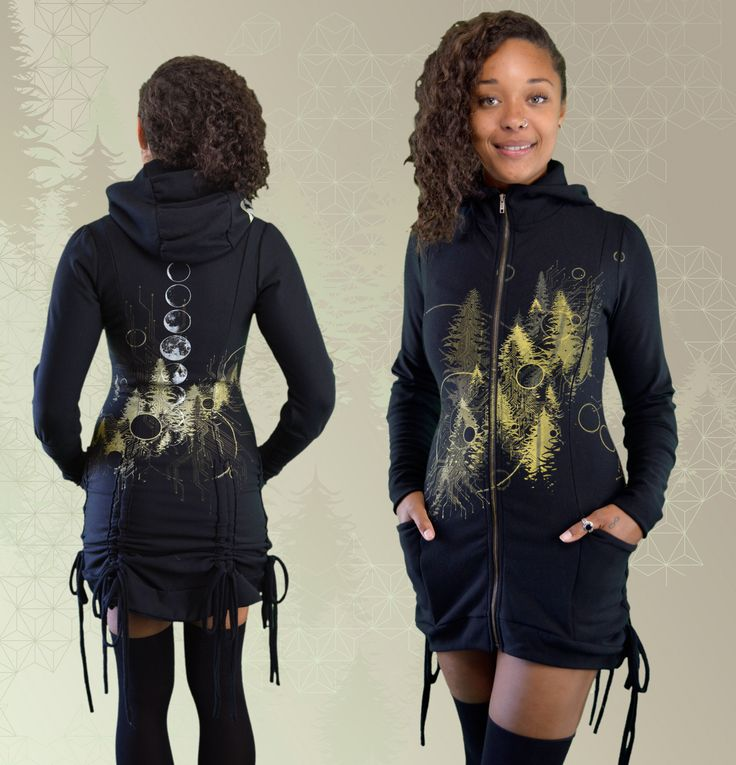 Avalon Bamboo Bustle Jacket, designs inspired by nature, moon phases, forest magic, sacred geometry, mists of avalon