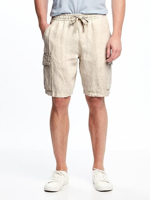 "Old Navy Linen Cargo Shorts for Men (9 1/2"")"