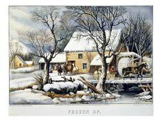 Currier & Ives Winter Scene Giclee Print