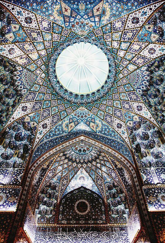 ceilng of the imam hussein shrine, karbala, iraq | islamic art + architecture