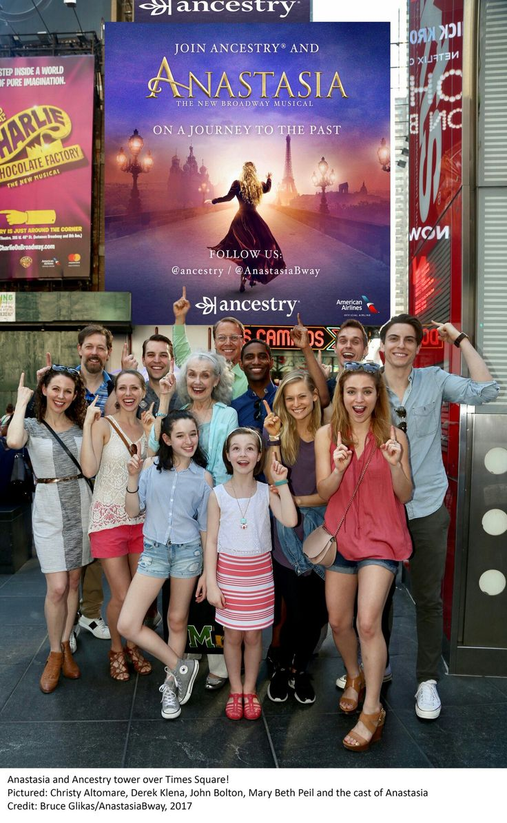 Anastasia on Broadway cast.