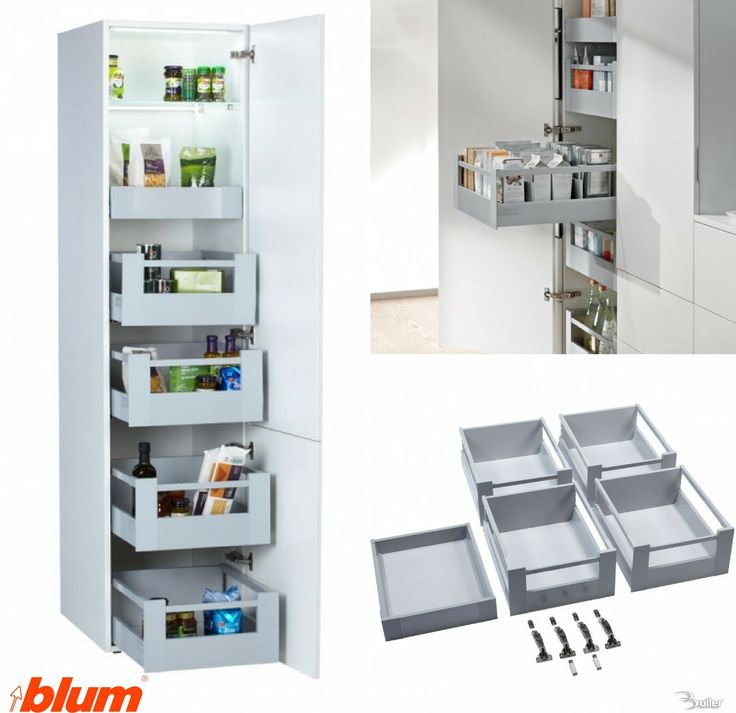 Space tower blum antaro drawer set cocina pinterest - Kitchen storage solutions for small spaces concept ...