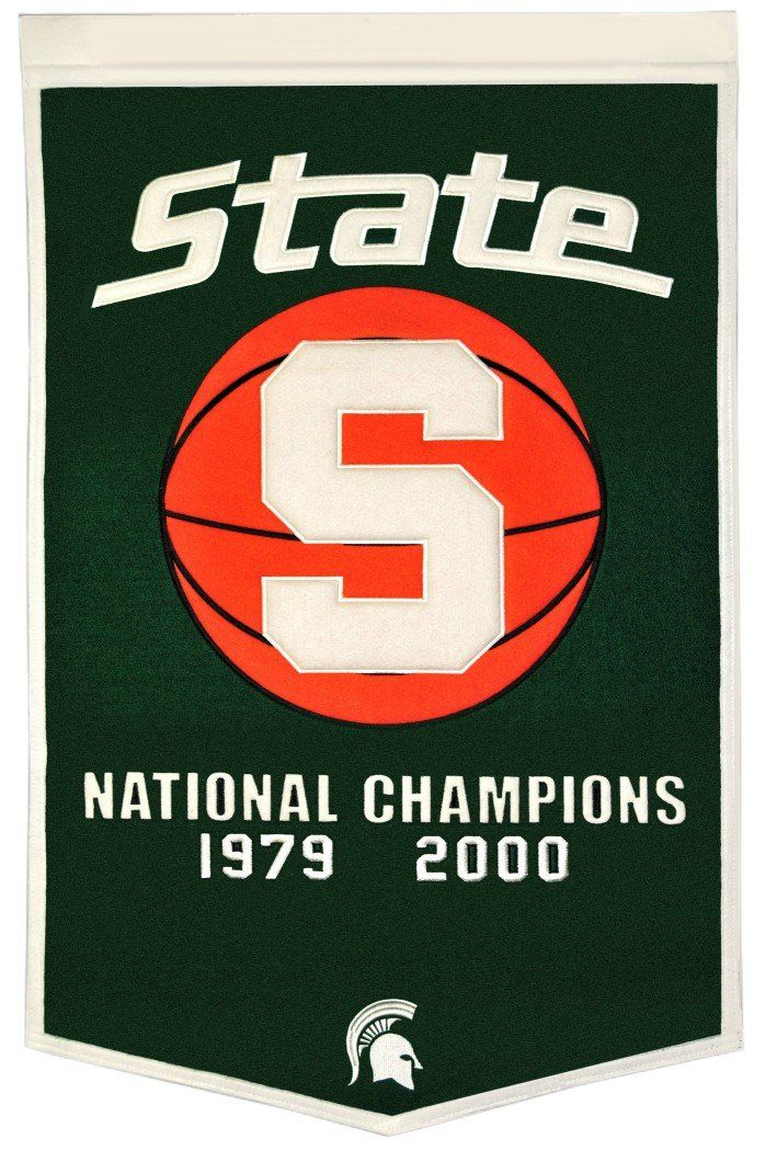 "Michigan State Spartans 24""x36"" Basketball Dynasty Wool Banner"